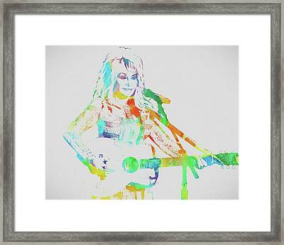 Colorful Dolly Parton Framed Print by Dan Sproul