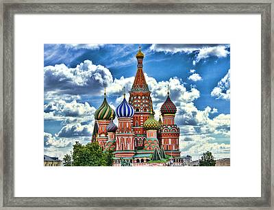 Colorful Domes Framed Print