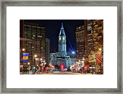 Colorful Downtown Philly 2016 Framed Print by Frozen in Time Fine Art Photography