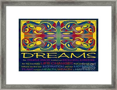 Colorful Dreams Motivational Artwork By Omashte Framed Print