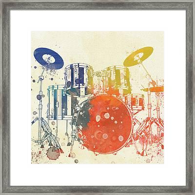 Colorful Drum Set Framed Print