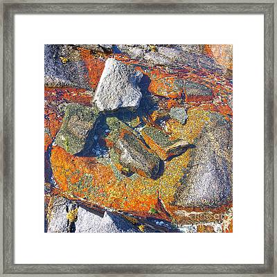 Colorful Earth History Framed Print by Heiko Koehrer-Wagner