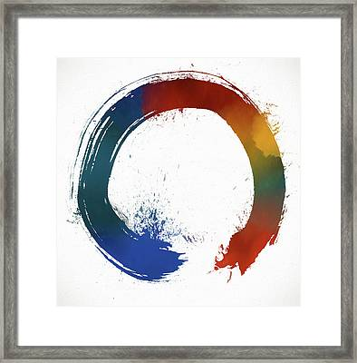 Colorful Enso Framed Print by Dan Sproul