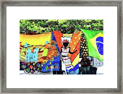 Colorful Fabrics For Sale In Salvador Framed Print