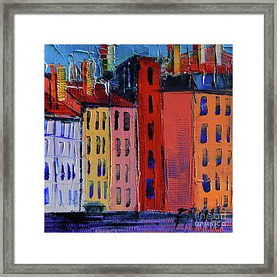 Colorful Facades Framed Print