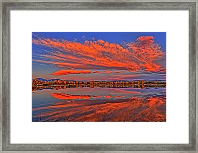 Framed Print featuring the photograph Colorful Fall Morning by Scott Mahon