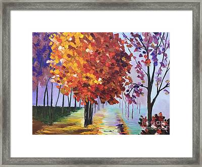 Colorful Fall Framed Print by Viktoriya Sirris