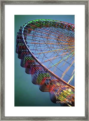 Colorful Ferris Wheel Framed Print by Carlos Caetano