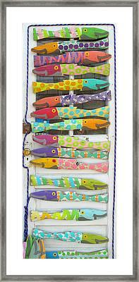 Colorful Fish Framed Print by Barbara McDevitt