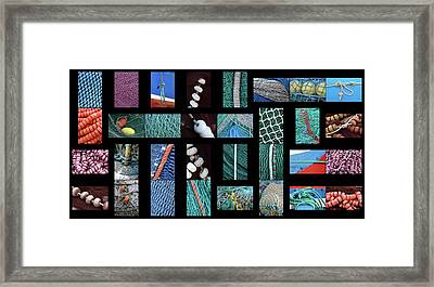 Framed Print featuring the photograph Colorful Fishing Nets by Frank Tschakert