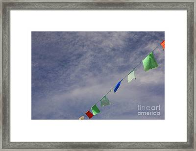 Colorful Flags Framed Print by Patricia Hofmeester