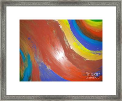 Colorful Flame Framed Print