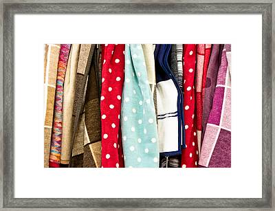 Colorful Fleece Framed Print by Tom Gowanlock