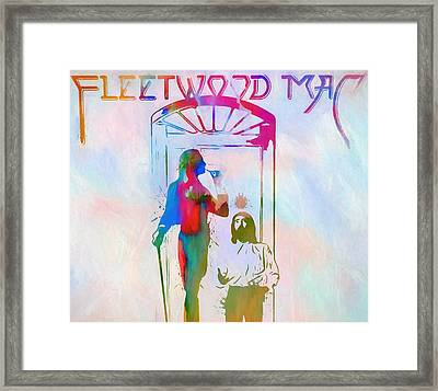 Colorful Fleetwood Mac Cover Framed Print by Dan Sproul