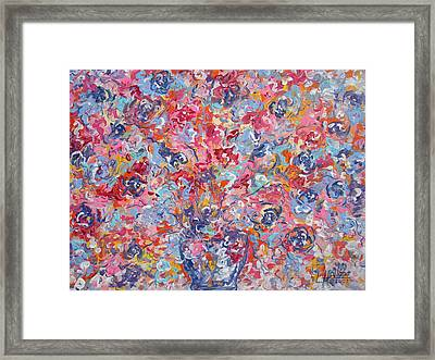 Colorful Floral Bouquet. Framed Print