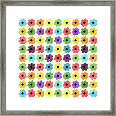 Colorful Floral Pattern Framed Print