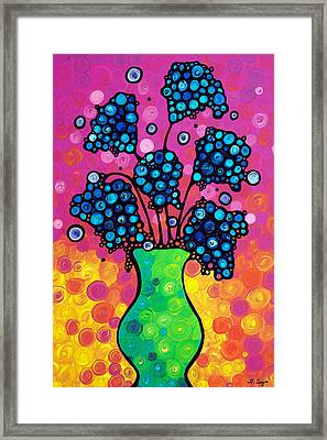 Colorful Flower Bouquet By Sharon Cummings Framed Print by Sharon Cummings
