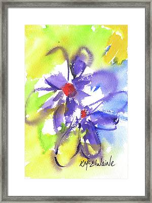 Colorful Flower Framed Print by Kathleen McElwaine