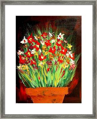 Colorful Flowers Framed Print by Teo Alfonso