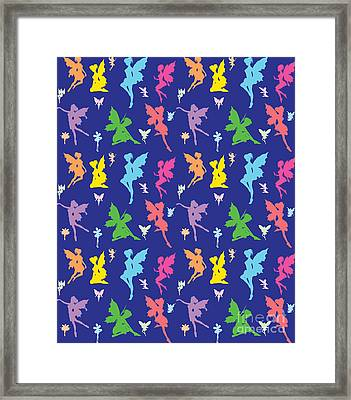 Colorful Flying Fairy Framed Print by Naviblue