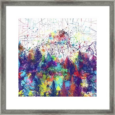 Colorful Forest 2 Framed Print