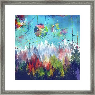 Colorful Forest 4 Framed Print