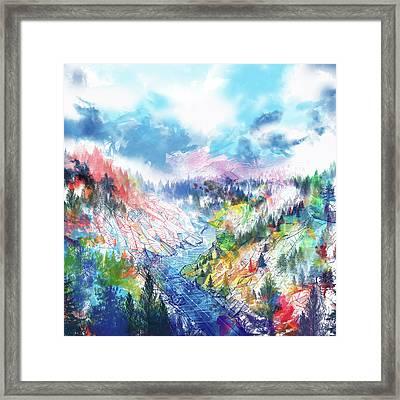 Colorful Forest 5 Framed Print