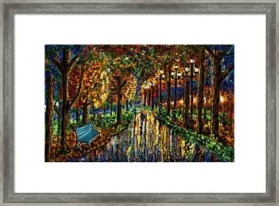 Framed Print featuring the digital art Colorful Forest by Darren Cannell