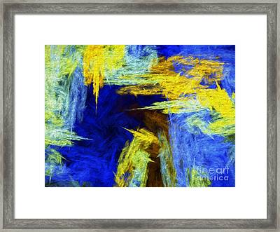 Colorful Frost Abstract Framed Print by Andee Design