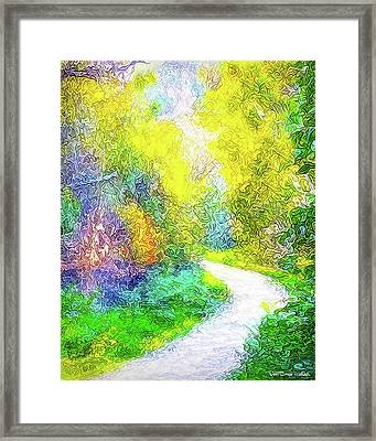 Colorful Garden Pathway - Trail In Santa Monica Mountains Framed Print