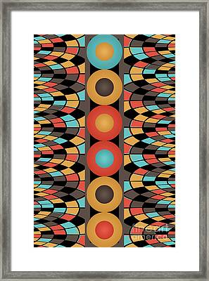 Colorful Geometric Composition Framed Print