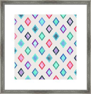 Colorful Geometric Patterns II Framed Print by Amir Faysal