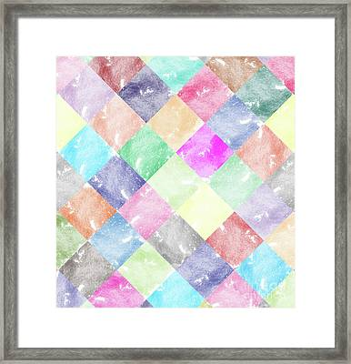 Colorful Geometric Patterns IIi Framed Print by Amir Faysal