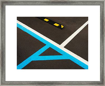 Colorful Geometry In The Parking Lot Framed Print