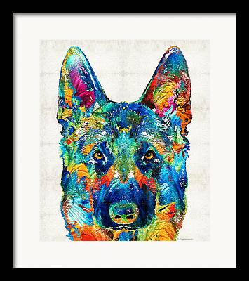 Police Dog Framed Prints