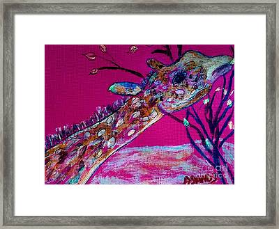 Colorful Giraffe Framed Print