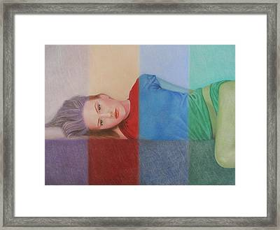 Colorful Girl Framed Print