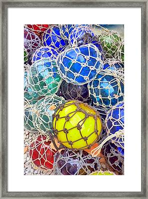 Colorful Glass Balls Framed Print by Carla Parris