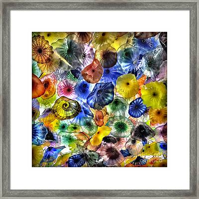 Colorful Glass Ceiling In Bellagio Lobby Framed Print