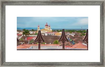 Colorful Granada II Framed Print by Michael Santos