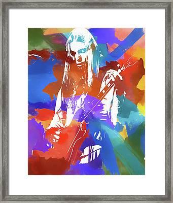 Colorful Gregg Allman Framed Print