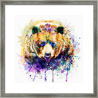 Colorful Grizzly Bear Framed Print