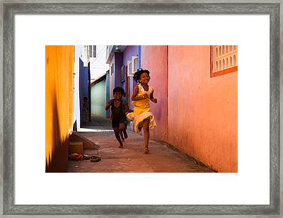 Colorful Happiness Framed Print
