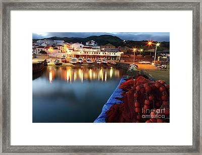 Colorful Harbour Framed Print by Gaspar Avila