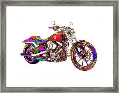 Colorful Harley-davidson Breakout Framed Print