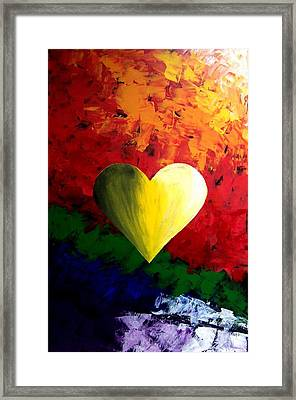 Colorful Heart Valentine Valentine's Day Framed Print by Teo Alfonso