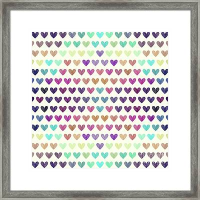 Colorful Hearts IIi Framed Print by Amir Faysal