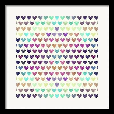 Heart Drawings Framed Prints