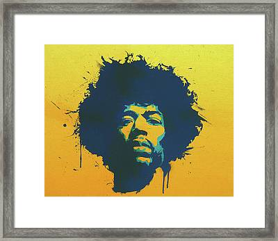Colorful Hendrix Pop Art Framed Print by Dan Sproul