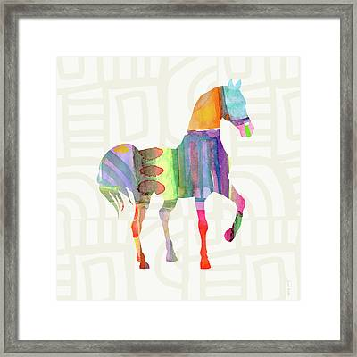 Colorful Horse 3- Art By Linda Woods Framed Print by Linda Woods